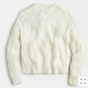 Authentic J.Crew Pointelle Cable Sweater